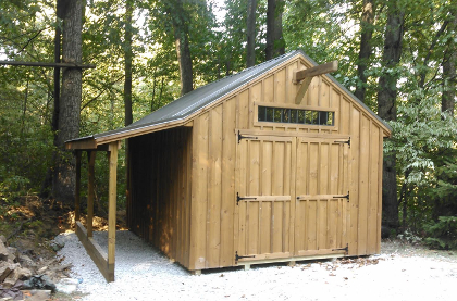 The Tongue Groove New England Shed Is Made Out Of White Pine Boards That Are Stained With Natural Kote Stain This Green Building Compliant